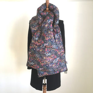J. Crew Puffer Quilted Scarf Liberty Floral NWT